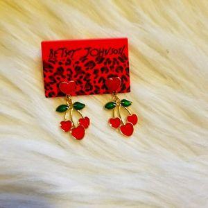 Betsey Johnnson Cherry Earrings